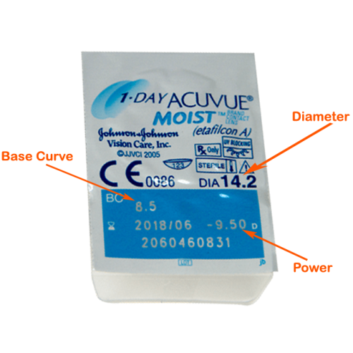 1 Day Acuvue Moist90 - 90 Lenses